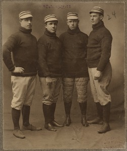 Collins, Parent, Ferris and Freeman infield of the Boston Americans