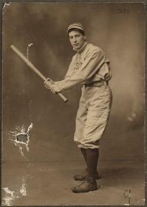Boston Americans catcher Ossie Schreckengost
