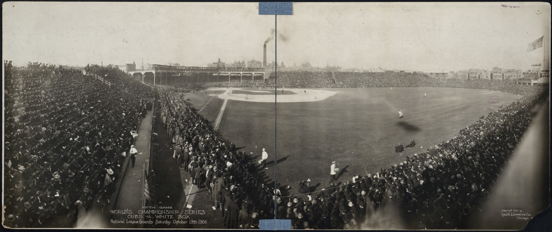 1906 World Series game at West Side Park in Chicago
