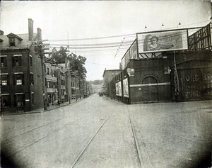 Amesbury St. from Canal St. looking north (2 copies); garage (?)