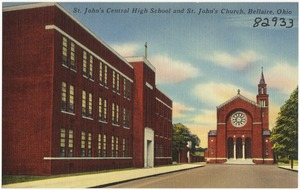 St. John's Central High School and St. John's Church, Bellaire, Ohio