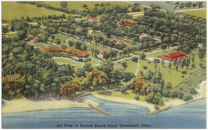 Air view of Beulah Beach (near Vermilion), Ohio