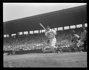 Jimmie Foxx at bat for the Red Sox