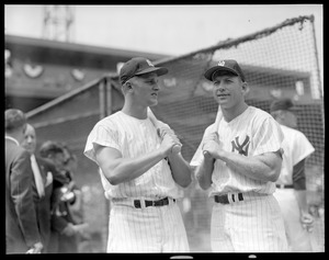 Yankees mashers Roger Maris and Mickey Mantle at Fenway for All-Star Game