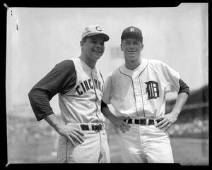 Joey Jay of the Reds and Jim Bunning of the Tigers, All-Star Game at Fenway