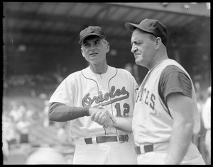 Paul Richards, Orioles, Danny Murtaugh, Pirates, managers of All-Star squads at Fenway