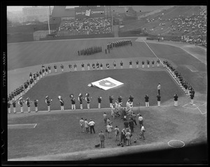 Celebration of 75th anniversary of the National League at Braves Field