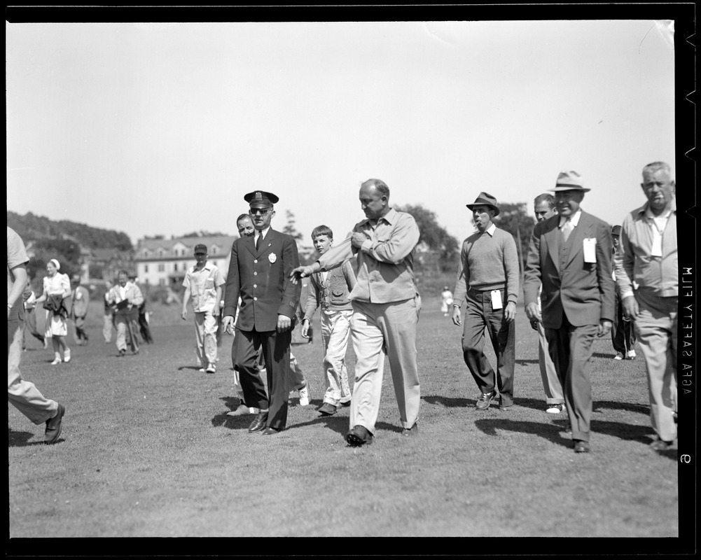 Ty Cobb at the course at Brae Burn for match with Babe Ruth
