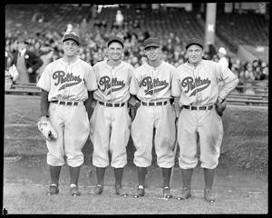 Phillies players at Braves Field