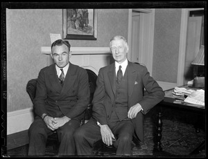 Connie Mack and Wally Moses of the Athletics