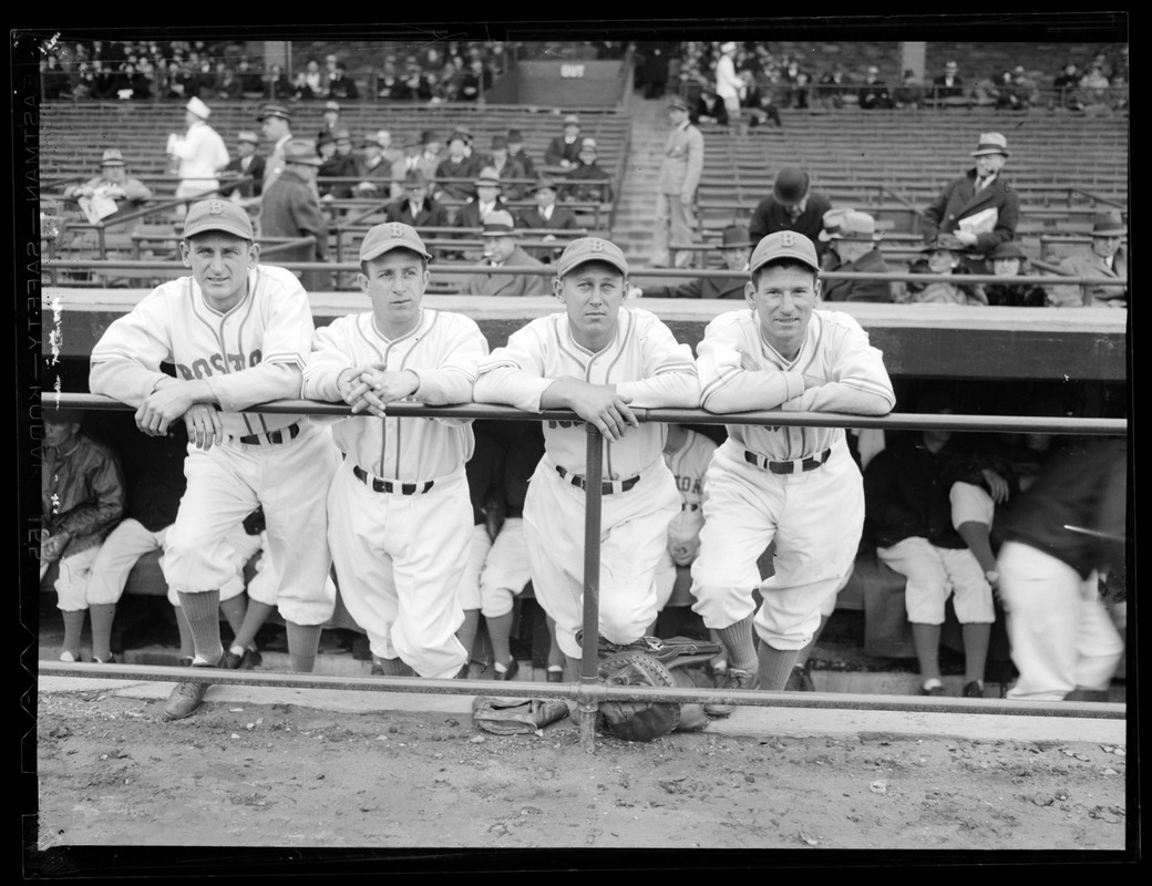 Boston Bees in dugout