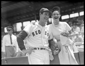Dorothy Lamour Howard sheds Baltimore Jersey for pic with Ted Williams