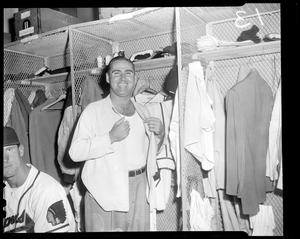 Tommy Holmes in Braves clubhouse