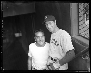 Johnny Orlando, Red Sox clubhouse manager with Joe DiMaggio