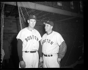 Ted Williams and Lou Boudreau of the Red Sox