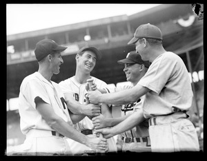 Ted Williams with fellow All-Stars, including Dixie Walker, Fenway