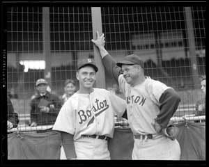 Babe Dahlgren and Jimmie Foxx, Boston city series