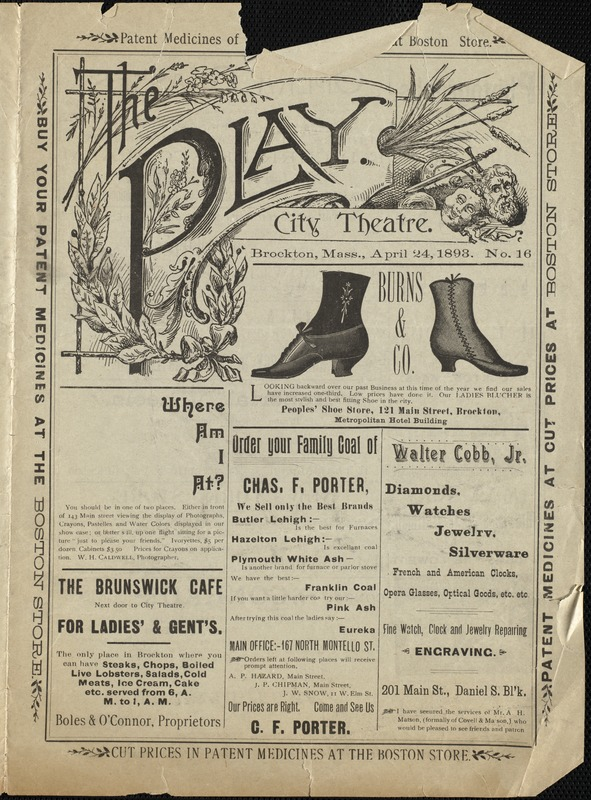 Chas. Frohman's Company presenting a grand double bill--Chums & Jane