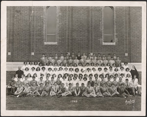 3-8th grades, graduation, Blessed Sacrament School, 1949