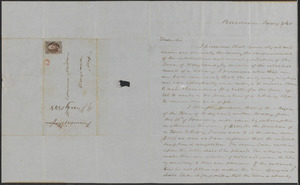 Judge Edward Mellen letter to Rev. Francis Wayland