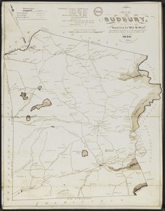 Map of Sudbury, Mass.