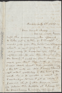 Letter from Deborah Weston, Boston, [Mass.], to Mary Weston, July 6th, 1837