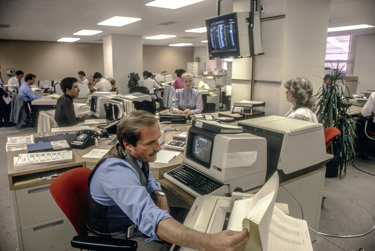 Digital Equipment Corporation computers at use in financial