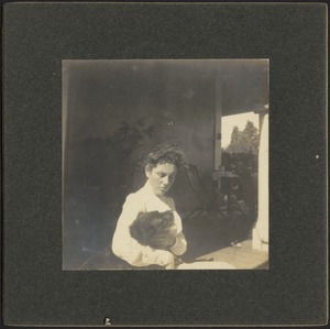 Ashdale Farm. Gertrude Kunhardt with dog