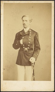 Young man in uniform with dress sword, possibly a Kunhardt relation
