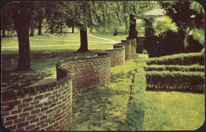 Postcard of Serpentine Wall at University of Virginia