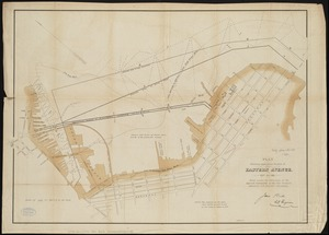 Plan showing approximate location of Eastern Avenue