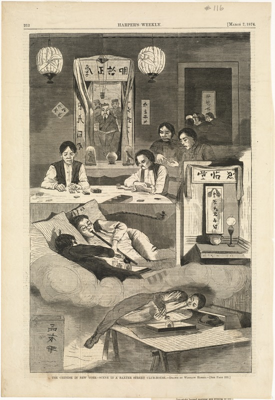 The Chinese in New York--Scene in a Baxter Street club-house