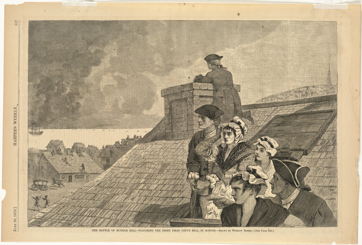 The Battle of Bunker Hill--Watching the fight from Copp's Hill, in Boston