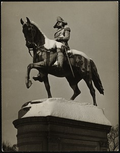 Ball's statue of Washington. Public Gardens, Boston