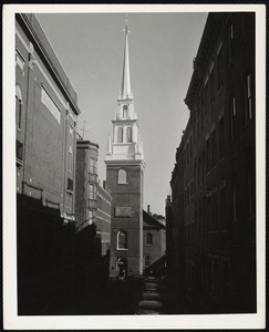 """""""New Tower"""" Old No. Church, Boston"""