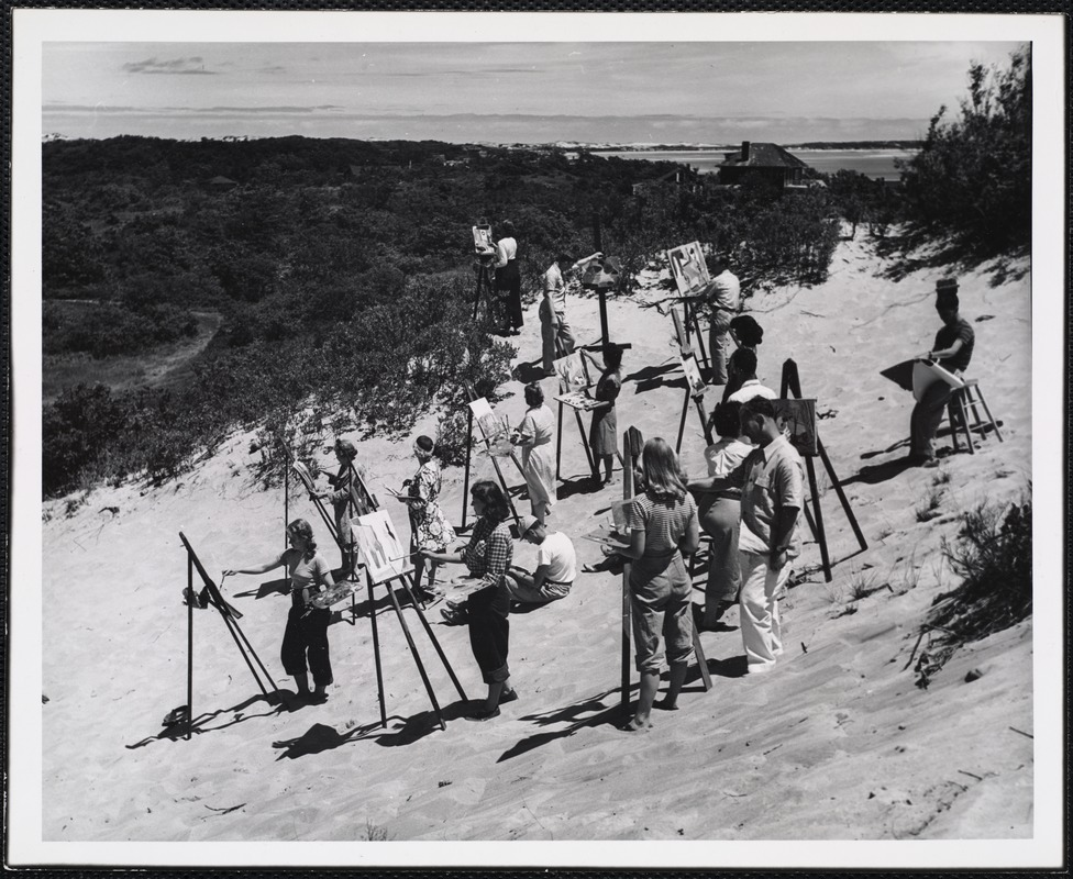 Art class in the Provincetown dunes