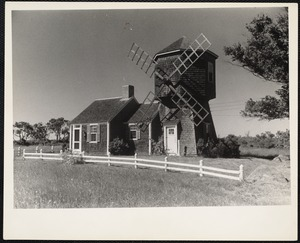 Cape Cod. This old wind mill is now a summer home in Yarmouth, Massachusetts