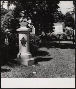 Conn. East Haddam - on this site stood school house that Nathan Hale taught at.