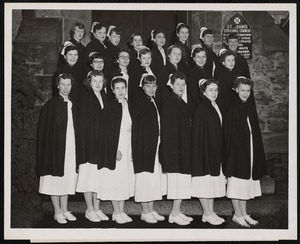 Faulkner Hospital School of Nursing class of 1952 at graduation