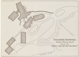 Group plan of Faulkner Hospital buildings