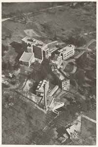 Airplane view of Faulkner Hospital