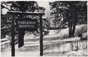 Allendale Road entrance sign for Faulkner Hospital