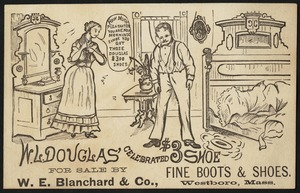 W. L. Douglas' celebrated $3 shoe. How much pleasanter you are now mornings since you got those Douglas $3.00 shoes.