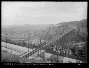 Relocation Central Massachusetts Railroad, viaduct, from the east, Clinton, Mass., Sep. 28, 1903