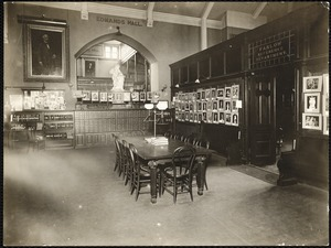 Newton Free Library, Old Main, Centre St. Newton, MA. Interior, Edmands Hall, Old Main