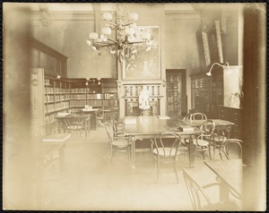 Newton Free Library, Old Main, Centre St. Newton, MA. Interior, Farlow Reference Dept., Old Main