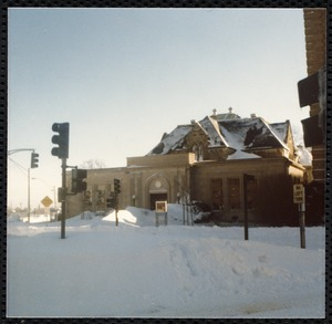 Newton Free Library, Old Main, Centre St. Newton, MA. Blizzard of '78
