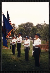 Newton Free Library, 330 Homer St., Newton, MA. Dedication, 9/15/1991. Color guard