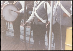 Newton Free Library, 330 Homer St., Newton, MA. Dedication, 9/15/1991. Fife & Drum Corps enter (Bedford, MA)