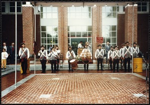 Newton Free Library, 330 Homer St., Newton, MA. Dedication, 9/15/1991. Fife & Drum Corps